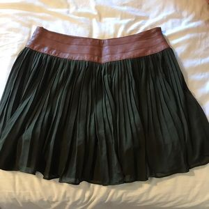 Brown and olive skirt